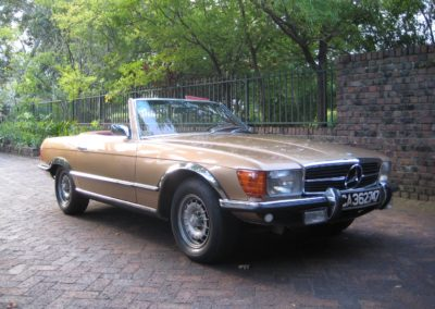 Mercedes 450SL 1975 Convertible Gold AS 3