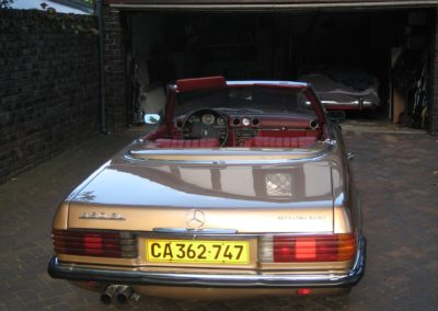 Mercedes 450SL 1975 Convertible Gold AS 5