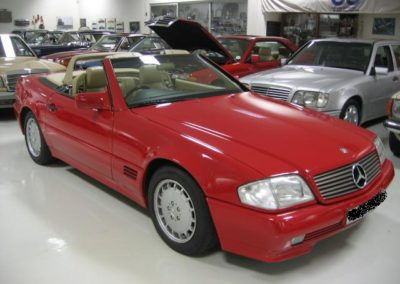 Mercedes 500SL 1992 Cabriolet Red AS 1