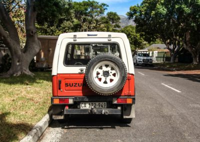 Suzuki SUV 1984 SJ410 Orange & White w detachable roof AS 6