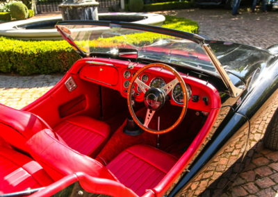 Triumph TR3 1959 convertible black red interior AS 11