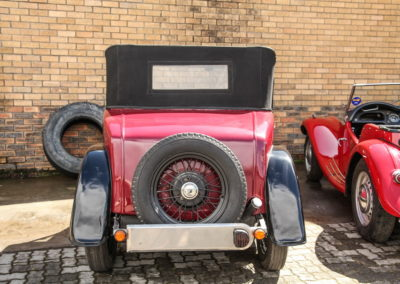 Austin 7 1936 Convertible Red AS 2018-4
