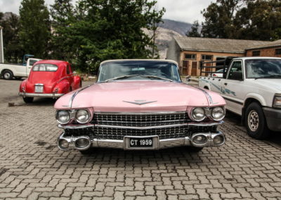 Cadillac Series 62 1959 Convertible Pink w White hood AS-2