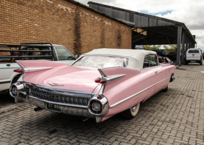 Cadillac Series 62 1959 Convertible Pink w White hood AS-3