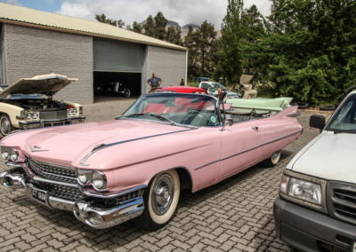 Cadillac Series 62 1959 Convertible Pink w White hood AS-7
