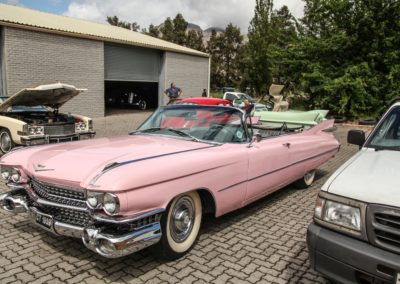 Cadillac Series 62 1959 Convertible Pink w White hood AS 7