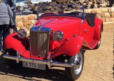 MG TD 1950 Convertible Red AS-2