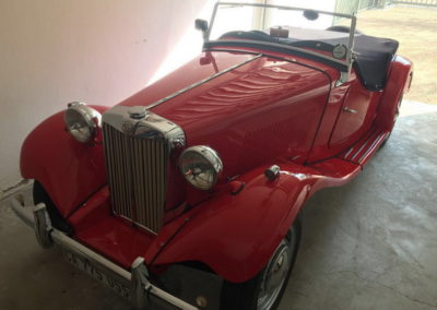 MG TD 1950 Convertible Red AS-3