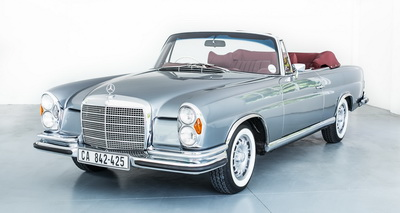 Mercedes 280SE 1970 Convertible Blue or Grey AS-6