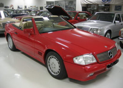 Mercedes 500SL 1992 Cabriolet Red AS -1