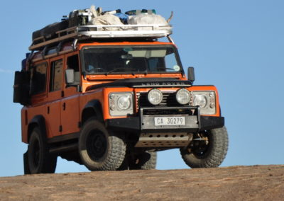 Landrover Defender 1988 Orange AS 2019-2