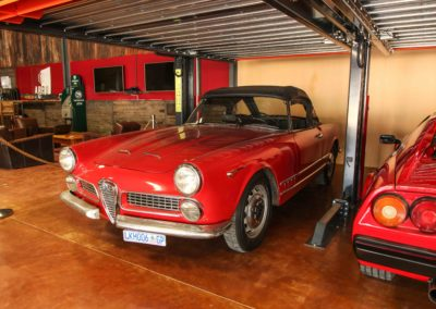 Alfa Spider Touring Convertible Red Black hood AS 1